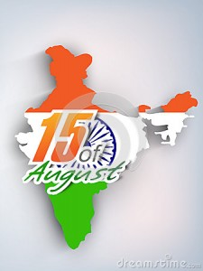 Indian Flag inside India map