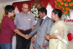 With Sandeep's family at our receiption
