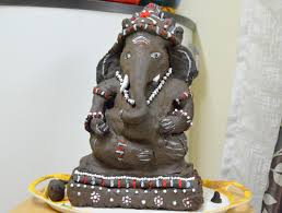 Clay Idol of Lord Ganesha