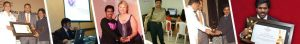 Srinivasu in different events including Yahoo Ratna