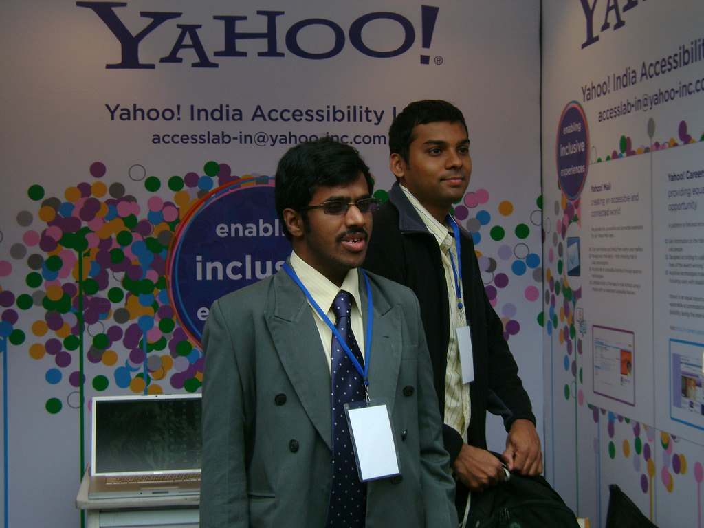 At At Yahoo! booth at Techshare India_4370293741_lYahoo! booth at Techshare India_4370293741_l
